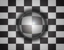 ajedrez del fondo de la esfera 3d Fotos de archivo