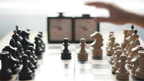 Ajedrez del juego de dos jugadores