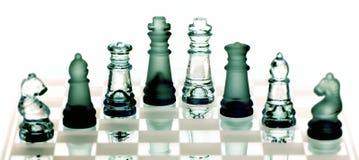 Ajedrez en el tablero de ajedrez Imagenes de archivo