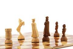Ajedrez en el tablero de ajedrez Foto de archivo libre de regalías