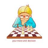 Ajedrez-jugador Imagen de archivo libre de regalías