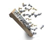Ajedrez movido de un tirón Imagen de archivo