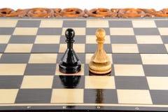 Ajedrez Tarjeta de ajedrez Imagen de archivo