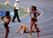 Ajee Wilson von USA der Sieger der 800 Meter Lizenzfreie Stockfotografie
