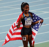 Ajee Wilson the winner of the 800 meters Stock Photography
