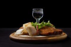 Ajerówka z bekonem i croutons Zdjęcie Stock