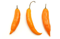 Aji amarillo. On a white background Stock Photos