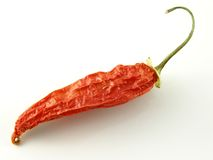 Aji pepper. Dried aji pepper Stock Photo