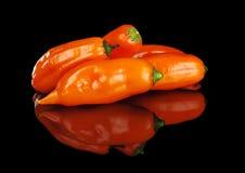 Ajis, Peruvian Hot Pepper on Black Stock Photo