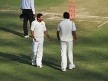 Ajit Agarkar and Zahir Khan Stock Photography