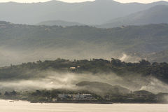 Ajjaccio Bay Corsica. Just after sunrise Royalty Free Stock Photo