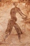 ajjer阿尔及利亚n绘画岩石tassili 免版税库存照片