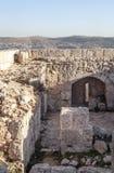 在废墟的Ajloun城堡 库存图片