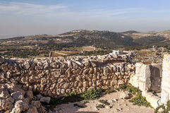 Ajloun castle in ruins Stock Photography