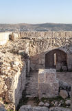 Ajloun castle in ruins Stock Images