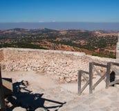Ajloun, Jabal Ajlun, góra Ajlun, Jordania, Środkowy Wschód Zdjęcia Royalty Free