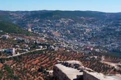 Ajloun, Jabal Ajlun, góra Ajlun, Jordania, Środkowy Wschód Obraz Royalty Free