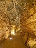 Ajloun, Jordan. Detail of the fortress, Ajloun, Jordan. Arab and crusaders fort Stock Photos