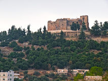 Ajloun, Jordan. Detail of the fortress, Ajloun, Jordan. Arab and crusaders fort Stock Photo