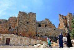 Ajloun-Schloss stockfotos