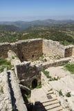 Ajloun slott arkivfoton