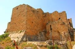 Ajloun slott i nord-västra Jordanien Arabisk och korsfararefort arkivbilder