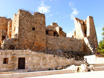 Ajlun城堡,约旦 免版税库存照片