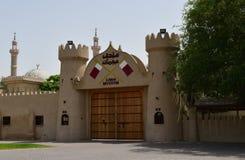 Ajman, ОАЭ - 6-ое апреля 2018 Крепость XVIII столетия, повернула в музей стоковая фотография rf