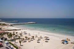 Ajman Août 2016 Hôtel Ajman Saray de plage La vue de la salle au golfe Persique Photographie stock