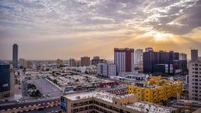 Ajman durante o nascer do sol Fotos de Stock