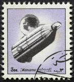 AJMAN/MANAMA - CIRCA 1972: Postage stamp printed by Ajman about history of space, stock photos
