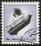 AJMAN/MANAMA - VERS 1972 : Le timbre-poste a imprimé par Ajman au sujet de l'histoire de l'espace, photos stock