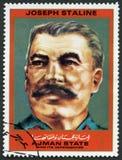 AJMAN - 1972: shows Joseph Vissarionovich Stalin Jughashvili 1878-1953, series Figures from the Second World War Stock Image