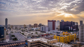 Ajman during the sunrise Stock Photos