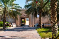 Ajman Zjednoczone Emiraty Arabskie, Grudzień, - 6, 2018: Ajman muzeum sho obraz stock