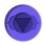 Ajna chakra icon Royalty Free Stock Photo
