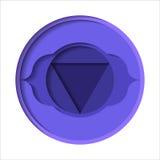 Ajna chakra ikona Zdjęcie Royalty Free