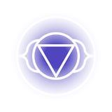 Ajna chakrasymbol Arkivfoto