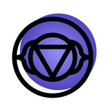 Ajna chakrasymbol Royaltyfria Foton