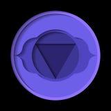 Ajna chakrasymbol Royaltyfria Bilder
