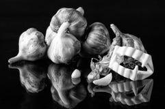 Ajo y dientes Foto de archivo libre de regalías