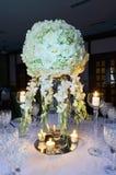 Réception de table de mariage Photographie stock libre de droits