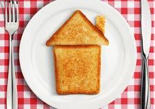 Ajournez l'arrangement avec la maison du plat, concept Photo libre de droits