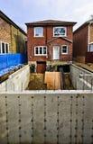 Ajout de construction à la maison image libre de droits