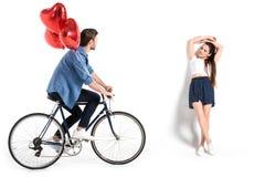Ajouter à la bicyclette et aux ballons Photo stock