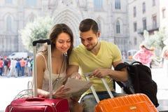 Ajouter à la carte de lecture de bagage Photo libre de droits
