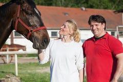 Ajouter affectueux aux chevaux Image libre de droits