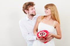 Ajouter affectueux aux fleurs de groupe de sucrerie Amour Photographie stock