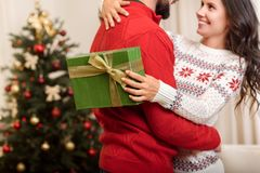 Ajouter au cadeau de Noël Image stock