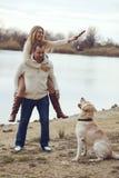 Ajouter au chien Photographie stock